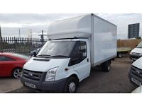 MAN&VAN LARGE LUTON VAN WITH TAIL LIFT 24/7 SHORT NOTICE ANY TIME STUDENT HOUSE OFFICE FLAT REMOVALS