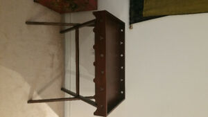 Pier 1  Solid wood tray table. Great condition. $90. Bloor/yonge