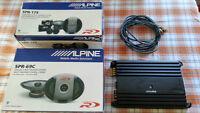 Hauts-parleurs Alpine type R avec Ampli 4 canals Alpine V-power