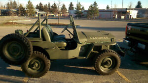 Willys Jeep .CJ2a  1947,military style,