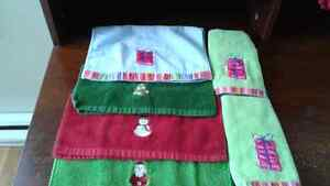 Christmas  towels & facecloths