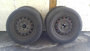 summer tires with wheel x4 195/70R14, it is 5 hole.