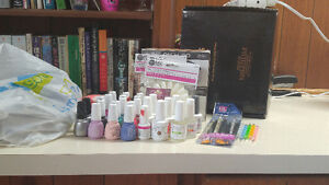 Gelish, Gelaze, and UV / LED lamps with accessories