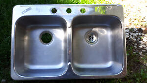 Evier double stainless