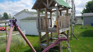Wooden Swing/Slide set