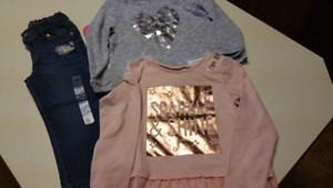 2T Girls..(2) shirts & jeans...ALL BRAND NEW WITH TAGS