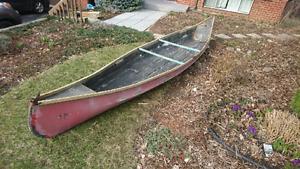 16 foot Canoe fiber glass