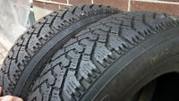 155/80/13 GOODYEAR NORDIC WINTER TIRES - LIKE NEW!