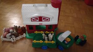 Ferme et camion Fisher-Price avec animaux / Farm