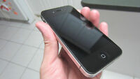 BLACK APPLE iPHONE 4S WITH CHARGER AND PROTECTIVE CASE - KOODO