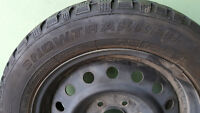 Set of 4 Snowtrakker Winter Tires - Nearly New - With Rims