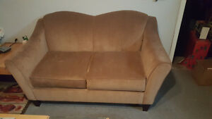 Brown Velour Love Seat London Ontario image 1