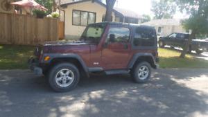 2001 TJ jeep wrangler