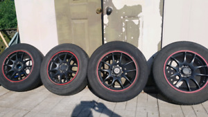 4x100 15 inch rims with tires