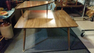 Walnut formica two tiered end table vintage Mid Century Sarnia Sarnia Area image 2
