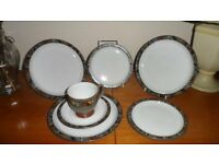 Denby Marrakesh 3 dessert plates, 2 teaplated and cup and saucer all pristine
