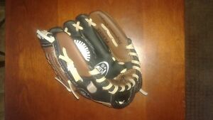 """9"""" Rawlings gold glove leather mitt and ball"""