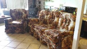 Chesterfield and chair - MUST GO