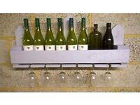 Large Rustic Wine & Glass Holder / Rack