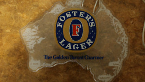 Fosters Lager Bar Sign