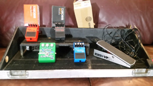 5 PEDAL/BOARD /CASE PACKAGE