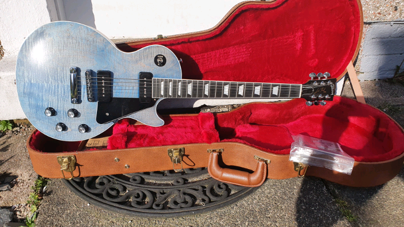 2018 Gibson USA Les Paul Classic Player Plus P90 Ocean Satin Blue   in  Rutherglen, Glasgow   Gumtree