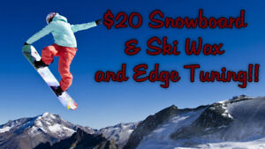 $20 Ski & Snowboard Wax and tuning in Brampton