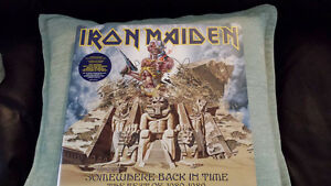IRON MAIDEN SOMEWHERE BACK IN TIME PICTURE DISC VINYL !
