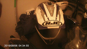 helmet, boots and chest protector