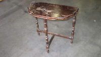 antique 1/2 moon front foyer table