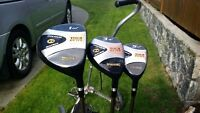 Mens (right handed) Spalding Tour Plus Golf Set, Cart & Shoes