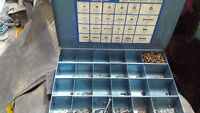 2 large Steel Storage Trays and Contents