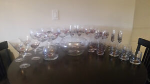 35 pc Stained Glass Stemware Set