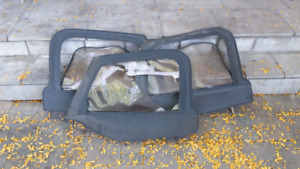 LOT OF 3 JEEP TJ HALF UPPER DOORS