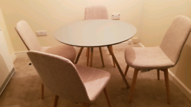 Next dining table and chairs.