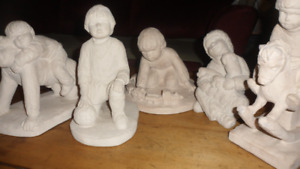 Great Fathers Day Gift! Stone Figures of boy's at play