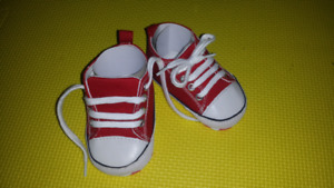 New never worned Baby red sneakers