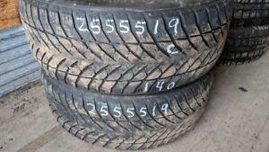 Pair of 2 Goodyear UltraGrip+ SUV4x4 255/55R19 WINTER tires (60%