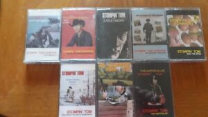 LOT OF 8 VINTAGE STOMPIN TOM CONNORS CASSETTE TAPES