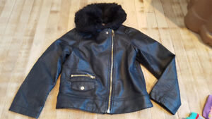 Girls leather jacket 5/6