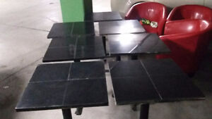 7 square tables 40$ each
