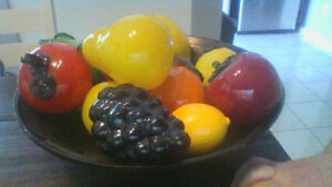 BOWL OF GLASS FRUIT
