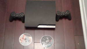 Sony PlayStation 3 - PS3 slim 160gb with 2 controllers