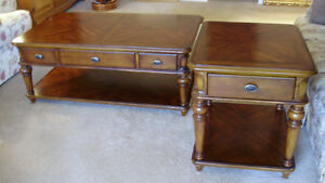 Moving Must Sell! Large Mahogany Finish Coffee and End Table