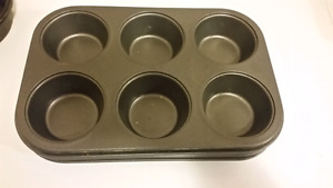 Baking pans, muffin trays, silicone molds