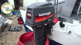 Wanted 2 outboard engines 2hp and 40 hp spares or repair boating gear