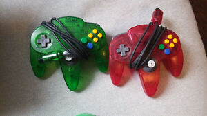 Two OEM Atomic N64 controllers