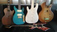 lot de guitares et pièces