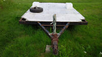 DIY Utility Trailer Stripped Down Tent Trailer Frame and Deck