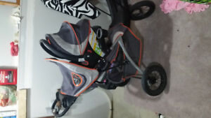 Stroller carset and high chair